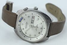 Vintage Kronotron Electra Automatic Calendar Day Date Men's Watch - Working