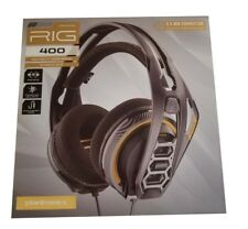 New Plantronics RIG 400 High Fidelity Gaming Headset 3.5MM PC Headphones Sealed