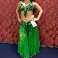 Green Beaded Professional Egyptian Belly Dance Costume