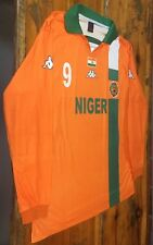 Vintage Niger Long Sleeve Jersey Match Worn Game Used Issued Football FNFB 90's
