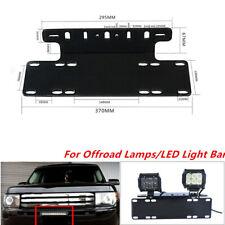 Front Bumper License Plate Mount Bracket Holder for Jeep Offroad Lamp Light Bar