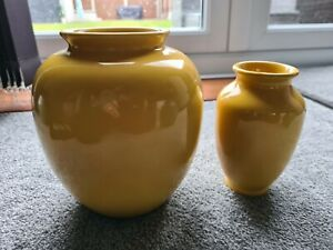 Sia Collection simple yellow vases x 2