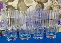 NACHTMANN CRYSTAL ASPEN LONG DRINK GLASSES SET OF 4