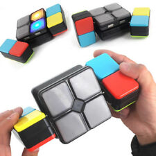 Magic Flip Slide Cube Puzzle Toy LED Music Multiplayer Electronic Game Toys Gift