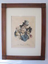 Louis-Leopold Boilly, Les Grimaces 'Les Mangeurs de Noix' Litho um 1825