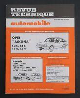 REVUE TECHNIQUE AUTOMOBILE RTA OPEL ASCONA RENAULT 18 20 TS n°424