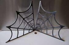 "Spider Web Flame Cut Frame Gusset Steel Hot Rat Rod or Roll bar 90 degree 12"""