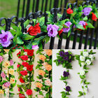 8ft Rose Flower Ivy Vine Silk Flowers Hanging Garland Plant Wedding Home Decor