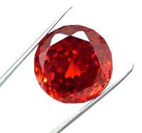 79 Ct  Round Cut Natural Cambodia  Red Zircon Ggl Gemstone