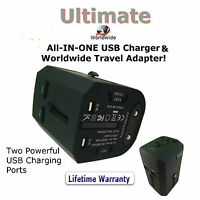 Best Travel Adapter UK 2017 Multiplug Universal Worldwide and USB Charger