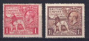 GV SG430/431  British Empire Exhibition Mounted Mint