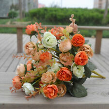 2 Bouquets 42 Head Artifical Rose Silk Flower Bouquet Home Wedding Decor New