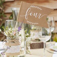 12 x Tischnummern Fähnchen 1 - 12  Rustic Country Hochzeit Tischdeko Tischplan P