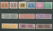 ITALIA ANNI 1960 / 1980  SERVIZI PACCHI VARI  SEGNATASSE RECAPITO 12 PEZZI NUOVI
