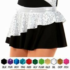Varsity Dance Costume TAP CIRCLE SKIRT Black w/ Colored Trim Child and Adult New