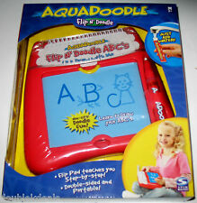 "NEW AQUADOODLE FLIP N"" DOODLE LEARN ABC'S! MESS FREE!"
