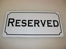 RESERVED Metal Sign for Decoration of Dance Club Bar Game Room Pool Hall Table
