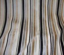 Velvet Raised Grey Ribbon upholstery Embossed Stripes Drapery Fabric per yard