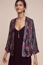 Anthropologie Hokkaido Kimono Jacket by Elevenses size S/M burnout velvet NWT