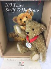 """Steiff Teddy Bear with Book """"100 Years of Steiff Teddy Bear"""" 2002 EAN:038884"""