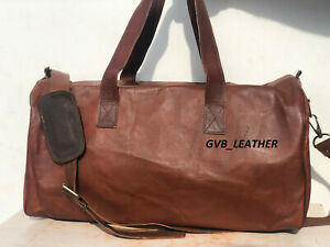 Bag New Stock Leather Travel Duffel Luggage Gym Weekend Men Handmade Holdall Bag