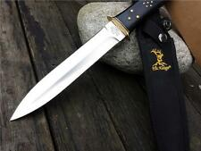 Elk Ridge Hand Crafted Coffin Handle Dagger knife ER105, Double Edged knife