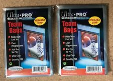 2x (100) Ultra Pro Team Cards Set Bag Pack Resealable Holder NO PVC Ultra Clear