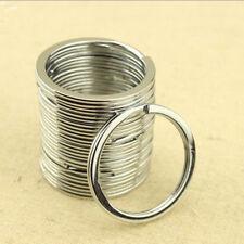 10pcs Silver Keyring Stainless Steel Metal Car Key Holder Split Rings 30mm