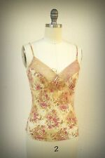 FOREVER 21 Size S Vintage 1990s Pretty Flowers Lace Soft Feminine Camisole USA