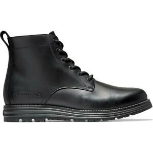 Cole Haan Mens Original Grand Black Leather Ankle Boots Shoes 9.5 10.5 BHFO 9858