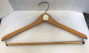 Marshall Field's Fields Wooden State St Clock Wood Suit Coat Hanger Vintage Rare