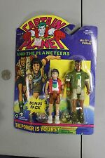 1994 CAPTAIN PLANET Ma-Ti & Kwame Planeteer action figure Tiger Toys MOC NOS VTG