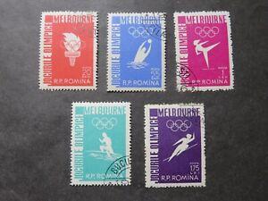 1956 Rumänien Mi-Nr. RO 1598-1602 komplett gestempelt Olymp.Spiele Melbourne