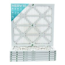 22x22x1 Merv 10 Pleated Air Filters. 12 Pack. Actual Size: 21-1/2 x 21-1/2 x 7/8
