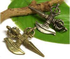 Tibetan Silver Tantric Cross DORJE VAJRA Pestle Kartika Knife Amulet Pendant