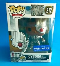 FUNKO POP JUSTICE LEAGUE WONDER WOMAN 211 & CYBORG 212 WALMART EXCLUSIVE
