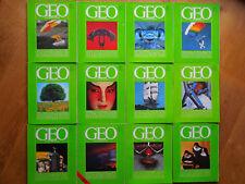 12  GEO-Magazine Komplette Ausgabe 1980 ( Hefte 1-12 )