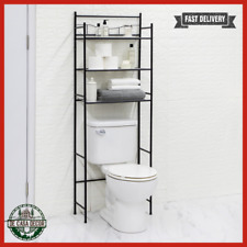 Bathroom Storage Over The Toilet Space Saver 3 Shelves Metal Construction