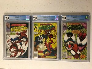 Amazing Spider-Man 361 362 363 ALL CARNAGE! ALL CGC 9.8! ALL RARE NEWSSTAND!