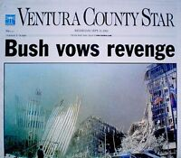 World Trade Center 9/11 2001 Newspaper Ventura County Star WTC VTG Original Rare