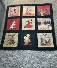 Fabulous Velvet Velour French Roarin 20's Ladies Fabric Shower Curtain Dancers