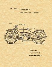 Patent Print - Harley Davidson Motorcycle 1924 Art Print. Ready To Be Framed!