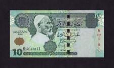 F.C. LIBIA LIBYA , 10 DINARES 2004 , EBC ( aXF ) , PICOS DOBLADOS , P.70b .