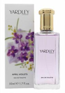 YARDLEY APRIL VIOLETS EAU DE TOILETTE EDT 50ML SPRAY - WOMEN'S FOR HER. NEW