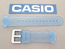 Genuine Casio Baby-G BG-151 BG-151-2 resin watch band frosted translucent blue