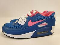 N686 MENS NIKE AIR MAX BLUE PINK TEXTILE LACE UP RUNNING TRAINERS UK 5 EU 38