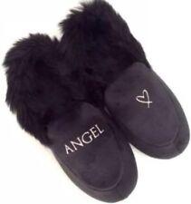 Victorias Secret VS ANGEL Luxe Velvet Slippers Booties Faux Fur Lined M (7-8)