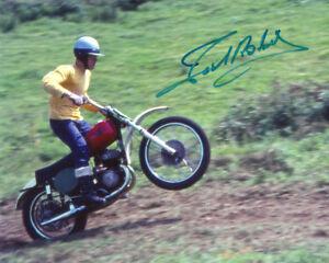JOEL ROBERT SIGNED AUTOGRAPHED 8x10 PHOTO MOTOCROSS LEGEND VERY RARE BECKETT BAS