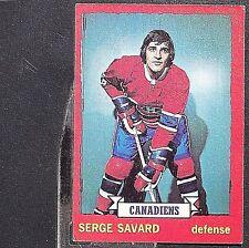SERGE SAVARD  1973/74  O-Pee-Chee  #24  Montreal Canadiens  HOF