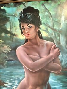 THE NYMPH by J H Lynch. VINTAGE 70's ORIGINAL FRAMED PRINT IN FABULOUS CONDITION